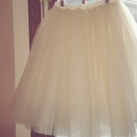 Tulle skirt-lined-bachelorette tutu- ivory, white, black or navy