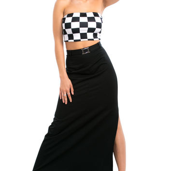 Vintage Y2K U Can't Handle This Maxi Skirt - S