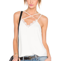 Lovers + Friends Mallory Top in Ivory