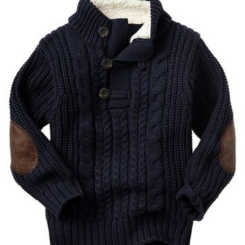 Gap Baby Factory Sherpa Cable Knit Sweater