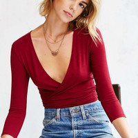 Kimchi Blue Crush Wrap Top - Urban Outfitters