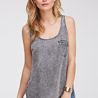 Life in Progress Chambray Pocket Tank