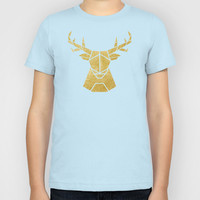 Geometry of a Deer Kids T-Shirt by Nick Nelson