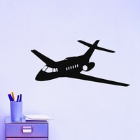 Airplane Wall Decal Vinyl Sticker Air Aviation Plane Home Decor Interior Design Art Mural Boys Room Bedroom Dorm Z758
