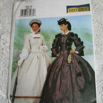 Victorian Jacket and Skirt Walking Suit Pattern Steampunk Butterick 6694 UNCUT Sewing Pattern Sizes 6, 8, 10 Victorian Costume Pattern
