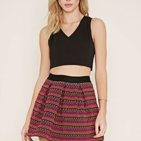 Pleated Zig-Zag Skirt