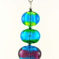 Hollow Bead Lampworked Glass Bead Necklace by MercuryGlass on Etsy