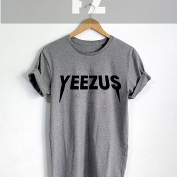 Kanye West Shirt Yeezus Tour Shirt T-shirt Tee Shirt Grey Color Unisex Size - NK74