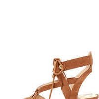 Hip to This Camel Suede Heeled Sandals