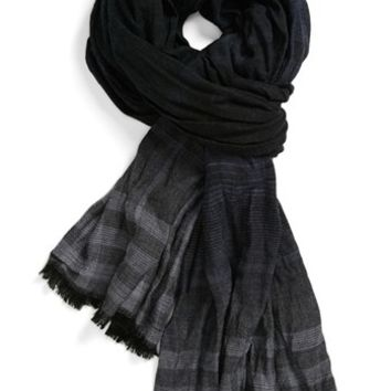 John Varvatos Collection Overdyed Plaid Scarf | Nordstrom