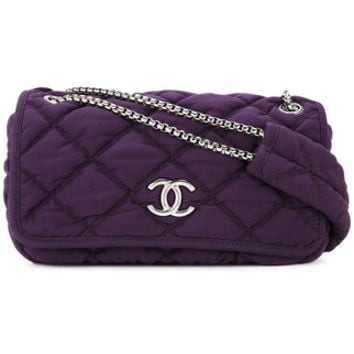 Chanel Vintage CHANEL Bubble Quilted CC Chain Shoulder Bag - Farfetch