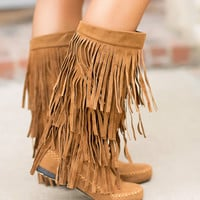 Three Layer Fringe Moccasins