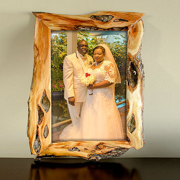 Rustic Handmade Wood Picture Frame Diamond Willow 12x18
