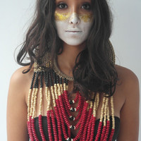 Traditional Papuan Red Bead Necklace