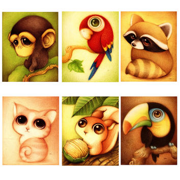 Animals Embroidery Painting Rhinestone+Canvas 5D Diamond Painting Craft Decoration For Children Living Room Bedroom