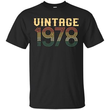 Vintage 1978 Funny Birthday Gift Retro 40th Birthday TShirt