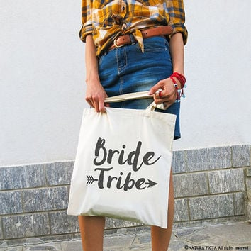 Bride tribe tote bag-bride tote bag-wedding bag-bridesmaid tote bag-maid of honor tote bag-wedding boho bag-custom bag-NATURA PICTA-NPTB096