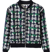Green Portrait Printed Jacket
