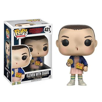 Funko POP Stranger things & little Eleven with eggos PVC Action Figure Boy toys birthday Gift No Box