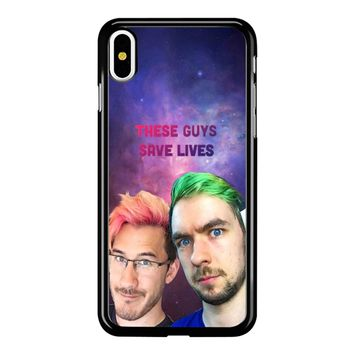 Jacksepticeye And Pewdiepie Markiplier 001  iPhone X Case