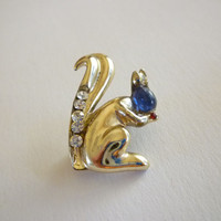 Squirrel Figural Brooch Pin, Animal Figural Brooch, Animal Jewelry
