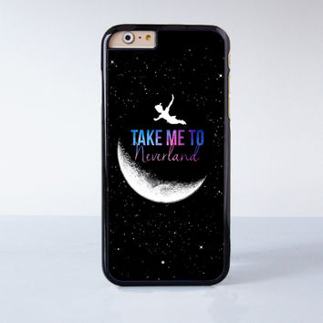 Peter Pan Take me to Neverland Plastic Case Cover for Apple iPhone 6 6 Plus 4 4s 5 5s 5c