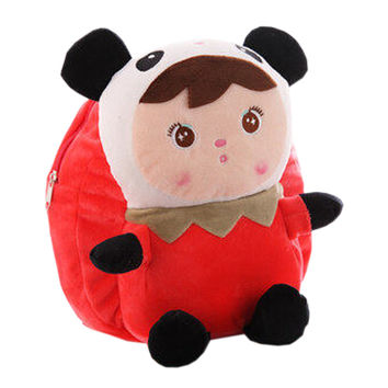 Lovely Panda Dolls Toddler Backpack Infant Villus Knapsack Cute Baby Bag 1 - 3Y