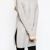 ASOS Tunic Jumper With Side Splits