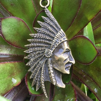 Indian Chief Necklace #I1009
