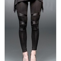 Queen of Darkness Leather Applique Leggings | Attitude Clothing