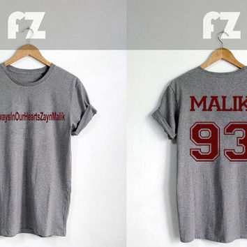 Zayn Malik #AlwaysInOurHeartsZaynMalik Shirt One Direction Shirt Tshirt T-shirt Tee Shirt Grey Color Unisex Size - NK71