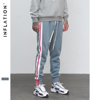 INFLATION New Collection Elastic Waist Track Pants Side Stripe Trousers Mens Womens Fashion Joggers Street Wear Sweatpants 8833W