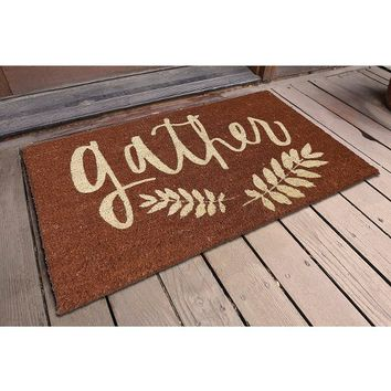 "Threshold™ Gather Door Mat - Multi-Colored (1'6""x2'6"")"