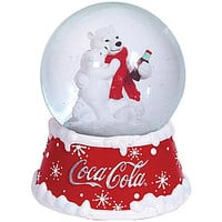 Coke Polar Bears Musical Snowglobe
