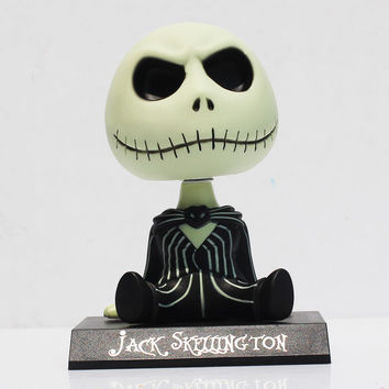 The Nightmare Before Christmas Jack Wacky Wobbler Bobble Head PVC Action Figure Collectible Model Toy 11cm With Box Alternative Measures