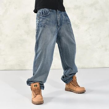 Hip Hop Baggy Men's Distressed Plus Size English Style Jeans by Lance Donovan