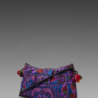 Indah Tasha Hill Tribe Embroidered Evening Bag in Purple from REVOLVEclothing.com