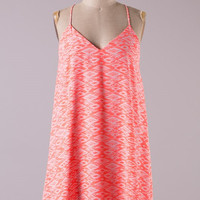 Wake the World Dress - Neon Coral