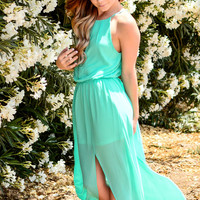 PARADISE ISLAND CHIFFON MAXI DRESS