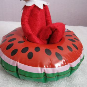 elf props watermelon BOAT INFLATABLE on the shelf accessories bath christmas | eBay