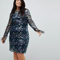 Unique 21 Hero Lace Dress In All Over Floral Sequin at asos.com
