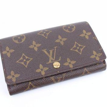 LMFON Tagre? 100% Auth Louis Vuitton Monogram BI-Fold purse wallet CA0071 RARE
