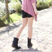 Korean Fashion Sweet Round Dot Pattern Slim Tights CutiColor-Wholesale Women Fashion From Icanfashion.com