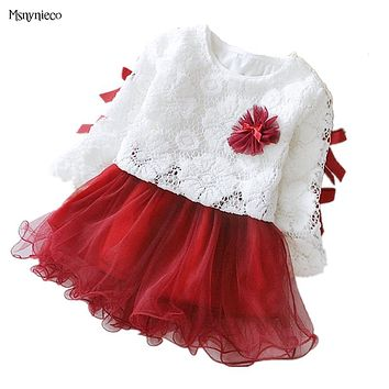 Baby Girl Dress  Princess Infant Party Dresses for Girls Autumn Kids tutu Dress Baby Clothing Toddler Clothes
