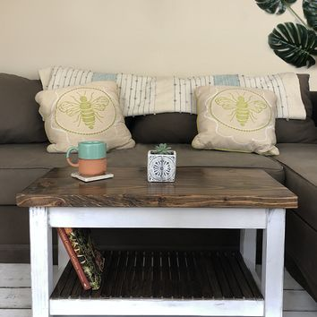 The Headhouse Table No. 36- Handmade, Solid Wood Farmhouse Coffee Table