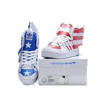 JeremyScott X Adidas 2012SS Amercan Flag angel Wings Men Women Sneaker