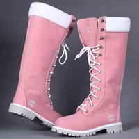 Fashion Online Timberland Women Leather Lace-up Waterproof Boots Shoes