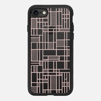 Map Lines Rose Gold Transparent iPhone 7 Case by Project M | Casetify