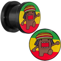 00 Gauge Acrylic Licensed Rasta Domo Screw Fit Plug Set | Body Candy Body Jewelry