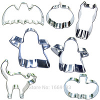 Cat Bat And Pumpkin Ghosts Shape Cake Decorating Tools,Little Halloween day Cookie Biscuit Baking Molds,Direct Selling